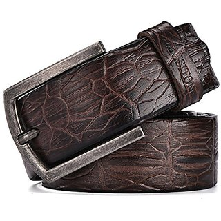 Akruti DINISITON Designer Belts For Men High Quality Cowhide genuine leather belt Mens Crocodile print strap for jeans Ceinture Homme