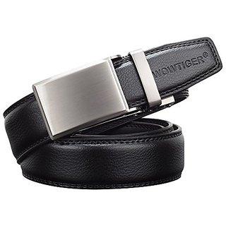 Akruti WOWTIGER Designer Luxury Brand Leather Male Men Automatic Buckle belt Waistbands Belts for Men ceinture cinturon homme (Synthetic leather/Rexine)