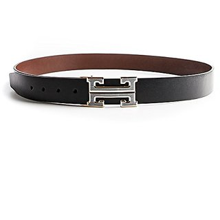 Akruti H Designer Luxury Brand Belts for Mens Genuine Leather Male Women Casual Jeans Vintage Fashion High Quality Strap Waist (Synthetic leather/Rexine)