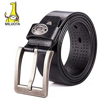 Akruti MILUOTA Fashion mens belts luxury ceinture designer belts men high quality genuine leather belts for men brand cinto LW062 (Synthetic leather/Rexine)