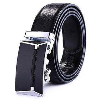 Akruti MUSENGE Male Genuine Leather Belts Men Cintos Para Homens Ceinture Homme Luxe Marque Automatic Cinturon Hombre Designer Waist (Synthetic leather/Rexine)