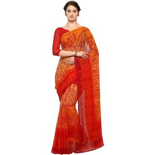 fe0f9d8802cc36 Buy Vaamsi Multicolor Chiffon Printed Saree With Blouse Online - Get ...