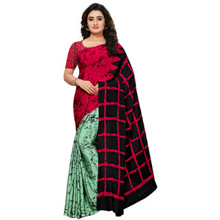 Swaron Multicolor Crepe Printed Saree