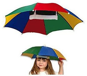 Hands Free Umbrella Hat To Protect From Sun Rain For Kids And Adults