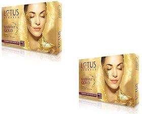 Lotus herbals radiant gold glow facial kit pack of 2