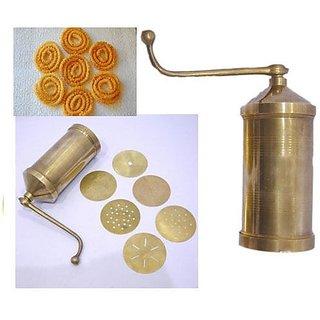Evershine Sev Sancha Gathiya Murukulu Janthikulu Maker Machine- Brass