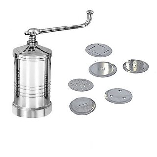 Evershine Stainless Steel Sev Sancha Gathiya Murukulu Janthikulu Chakali Maker Machine