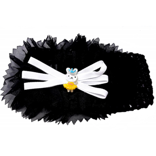 Proplady Floral Cutwork Headband (Black Color) - Baby Girl Headbands - Baby Shower Gifts - Baby Hair Accessories