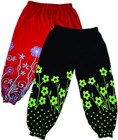 Jisha Fashion Girls Harem Pant multi colorPack of 2
