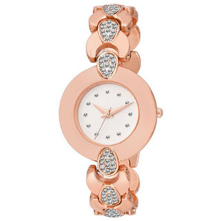 R P S fashion new looked rosegold new fancy girl watch 6 month warranty