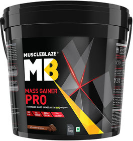 MuscleBlaze Mass Gainer Pro (Chocolate, 5 Kg / 11 Lb)