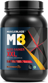 MuscleBlaze Mass Gainer XXL, 2.2 lb (1 kg) Chocolate