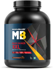 MuscleBlaze Mass Gainer XXL, 6.6 Lb (3 Kg) Chocolate