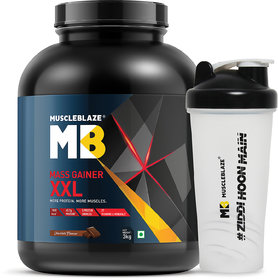 MuscleBlaze Mass Gainer XXL With Free Shaker, Chocolate