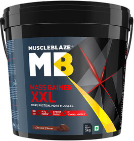 MuscleBlaze Mass Gainer XXL, 11 Lb (5 Kg) Chocolate