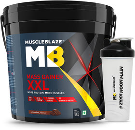 MuscleBlaze Mass Gainer XXl With Shaker Free, 11 Lb Cho