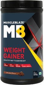 MuscleBlaze Weight Gainer, Chocolate 1.1 Lb