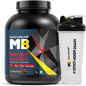 MuscleBlaze Weight Gainer With Free Shaker, 6.6 Lb Choc