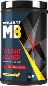 MuscleBlaze Weight Gainer (500g, Banana)