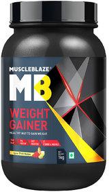 MuscleBlaze Weight Gainer (1kg, Kesar Pista Badam)