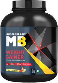 MuscleBlaze Weight Gainer (3kg, Kesar Pista Badam)