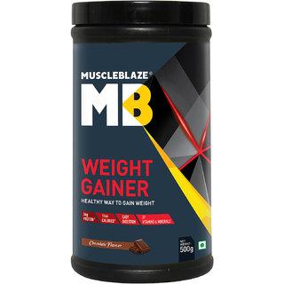 MuscleBlaze Weight Gainer, Chocolate 1.1 lb