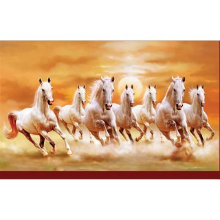 7 Horse in Right Direction Painting as per Vastu Without Frame