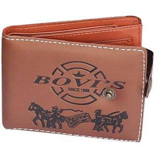 New Stylish Brown Wallet Bovis Print