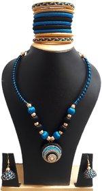 FY Creation Silk thread jewellery Set