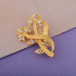 21a8a2267 Memoir Gold Plated, CZ Studded, Flower Design, Saree pin, Dupatta pin,