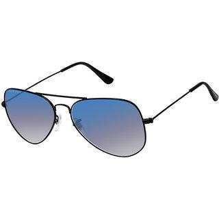 David Blake Blue Aviator Gradient UV Protection Sunglass