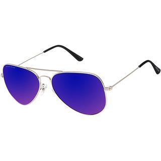 David Blake Blue Aviator UV Protection Mirrored Sunglass