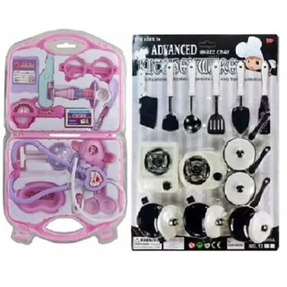 Oh Baby branded Black and White multicolor Kitchen set with Cup set Good Gift item For Kids FOR YOUR KIDS SE-ET-227