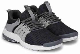 Men Grey Mesh Running Shoe