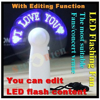 Handheld 11 LED USB Flash Message Fan (You can edit display contents yourself)..