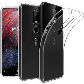 Nokia 6.1Plus Transparent back cover Flexible cover by Mascot max