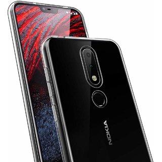 buy popular ec9ca d6620 Nokia 6.1Plus Transparent back cover Flexible cover by Mascot max