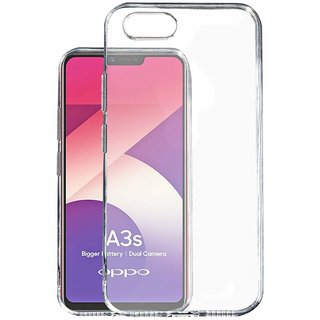 huge discount ea20b acdbf Transparent Soft Back Cover For Oppo A3s