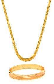 GoldNera Gold Plated Designer Daily wear Chain & Kada for Men