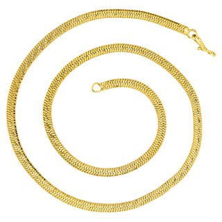 GoldNera Fashion Jewelry 2017 Thick Mens Flat Chain 24 Inches