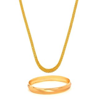 GoldNera Gold Plated Designer Daily wear Chain & Kada for Men