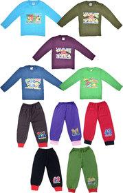 Jisha Boys Tshirts with Hosiery Pants with Rib ( Pack of 10)