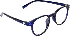 Zyaden Unisex Blue Round Full Rim Sunglasses