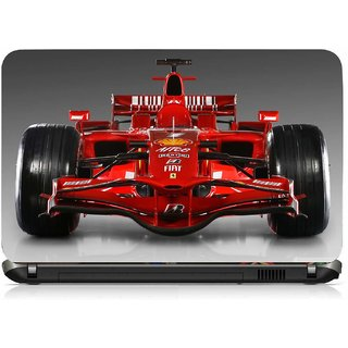 VI Collections RACE CAR IN RED pvc Laptop Decal 15.6