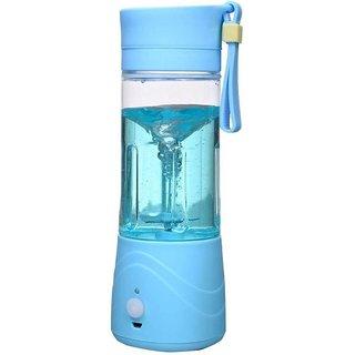 IBS Wireless US8 PortableE rechargable USB 380ml 150 Juicer Mixer Grinder (Blue 1 Jar)