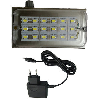 X-EON (TM.) XE-ECL1707-S, Metal Body -12 Watt  Rechargeable Emergency LED Light  with Charging Adopter