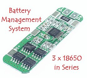 E118 BMS 3S PCM 18650 Battery Charging Protection board for Lipo 10A 12v Li-ion