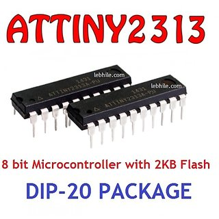 Brand New AMTEL ATTINY2313A-PU DIP-20 8-bit Micro controller with 2K Bytes  Flash