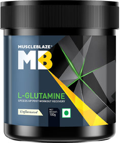 MuscleBlaze Micronized Glutamine , 100 gm Unflavoured