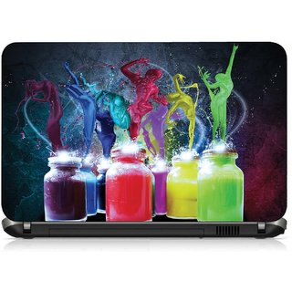 VI Collections MULTI COLOR DANCING IN BOTTLE pvc Laptop Decal 15.6